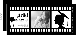 Movie Strip Formal Graduation Announcement
