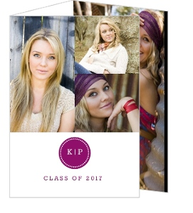 Modern Initials Monogram Graduation Announcement
