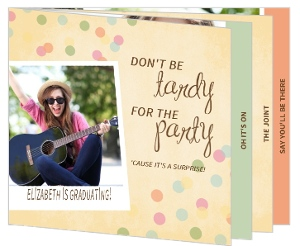 Rustic Confetti Graduation Booklet Invitation