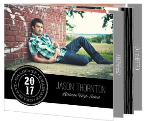 Rustic and Modern Graduation Booklet Invitation