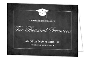 Classic Chalkboard Graduation Party Invitation