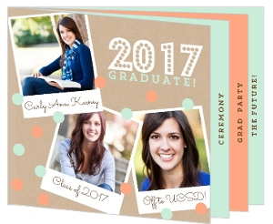 Crafty Polaroid Graduation Booklet Invitation