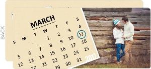 Kraft Calendar Engagement Photo Announcement
