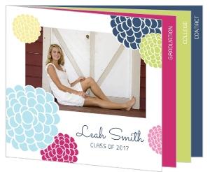Colorful Floral Graduation Booklet Announcement