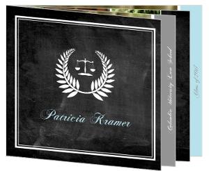 Chalkboard Law School Graudation Booklet Announcement