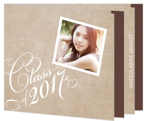 Rustic Country Kraft Graduation Booklet Announcement