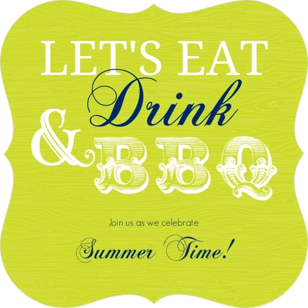 green and navy eat drink modern bbq party invitation | bbq invitations, Party invitations