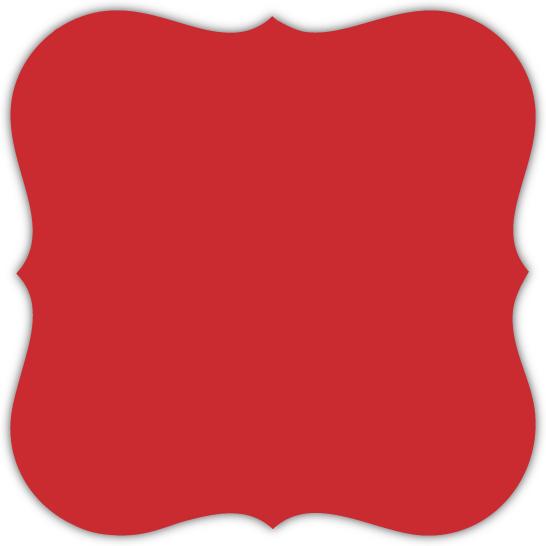 Elegant Red Frame Holiday Party Invitation   Holiday Invitations