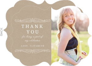 Classy Kraft Graduation Thank You Card