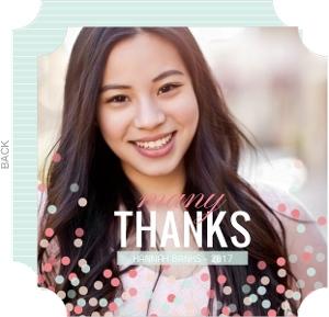 Sweet Confetti Graduation Thank You Card