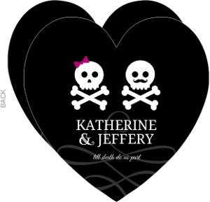 Playful Skulls Halloween Wedding Invitation