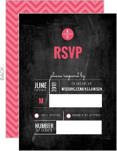 Modern Monogram Wedding Response Card