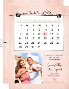 Little Birdie Calendar Save The Date Announcement