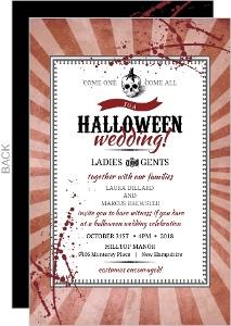 Vintage Steampunk Skull Halloween Wedding Invitation