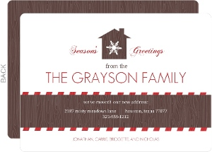 Rustic Home Holiday Moving Announcement