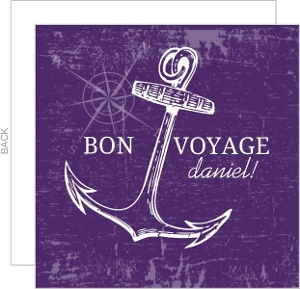 Bon Voyage Nautical Anchor Party Invite