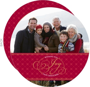 Traditional Christmas Joy Photo Card