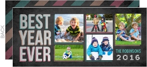 Best Year Ever Faux Foil Holiday Photo Card