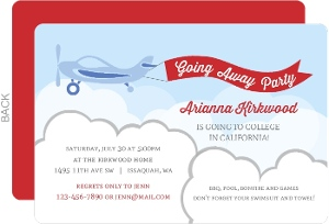 Airplane Flag Going Away Invitation