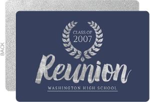 Silver & Blue School Reunion Invitation