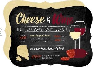 Classy Cheese Winee Family Reunion Invitation