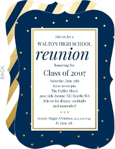 Classic Colors 20 Year Class Reunion Invitation Reunion Invitations