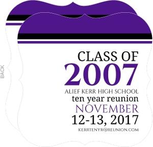 Bold Typography Class Reunion Invitation