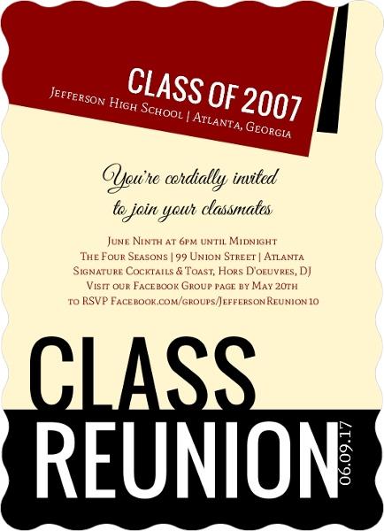 Diploma Class Reunion Invitation Reunion Invitations