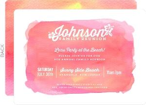 Aloha Family Reunion Invitation
