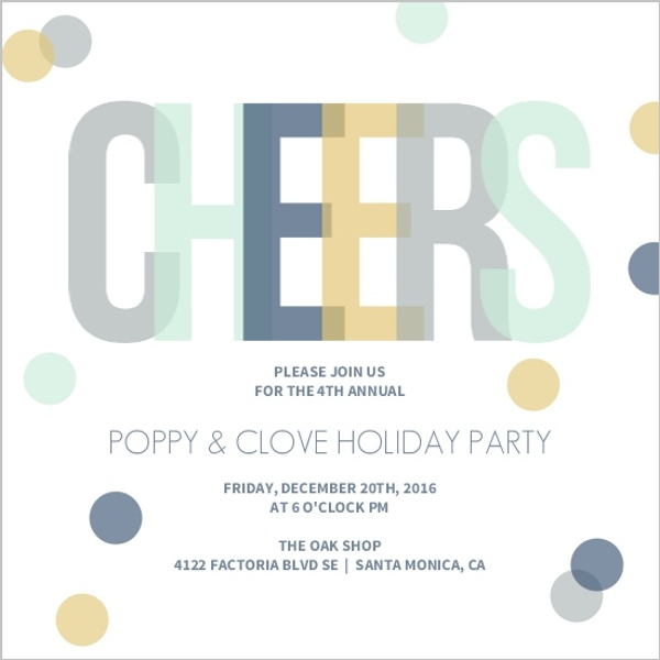 Cheap Business Holiday Party Invitations - Invite Shop