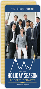 Blue Mountain Chart Business Holiday Card