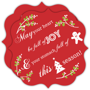 Red Mistletoe Icon Business Holiday Card