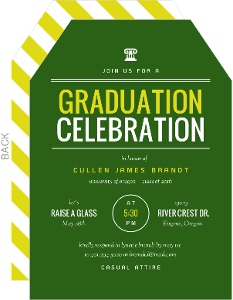 School Spirit Graduation Invitation