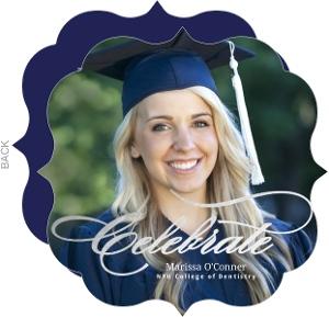 Faux Silver Foil Celebrate Graduation Invitation