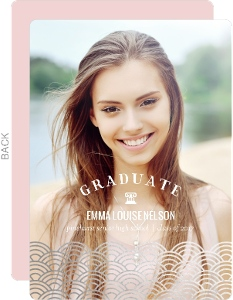 Art Deco Faux Foil Graduation Announcement