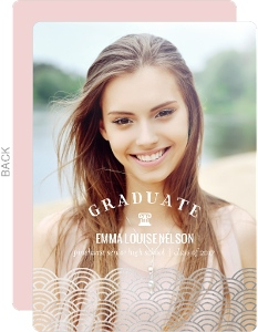 Art Deco Silver Foil Graduation Announcement