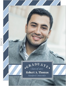 Modern Stripe Frame Graduation Announcement