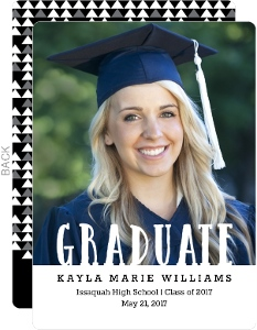 Modern Patterned Graduation Announcement