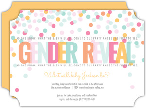 Festive Cheer Baby Gender Reveal Party Invitation