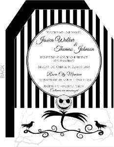 Creepy Crow Halloween Wedding Invitation