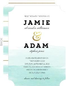Modern Ombre Watercolor Wedding Invitation