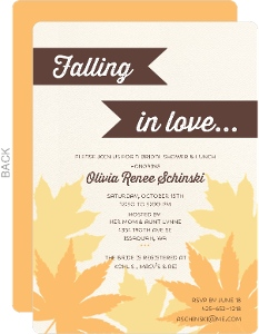 Falling Leaves Bridal Shower Invitation