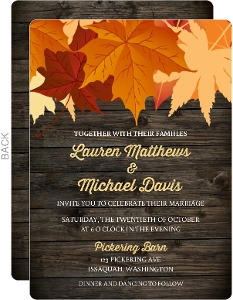 Cheap Fall Wedding Invitations - Invite Shop
