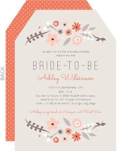 Neutral Floral Bridal Shower Invitation