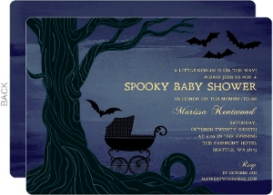 Twighlight Sky Halloween Baby Shower Invitation