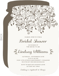Elegant Floral Bridal Shower Invitation