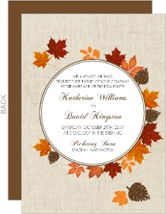 Fall Wedding Invitations gangcraftnet