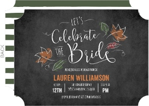 Celebrate the Bride Chalk Bridal Shower Invitation