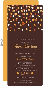 Orange and Yellow Confetti Bridal Shower Invitation