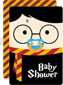 Cute Wizard Halloween Baby Shower Invitation